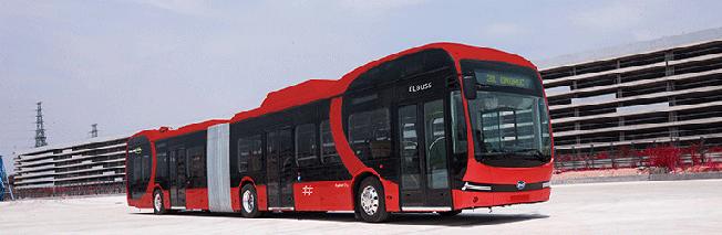 Nobina testar två BYD batteridrivna ledbussar i Oslo. Biukd: Ruter.