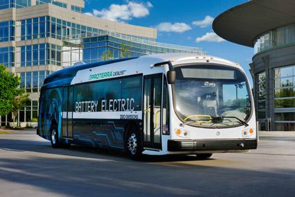 Den amerikanska elbusstillverkaren Proterra har fått den hittills största ordern på batteribussar i Nordamerika. Bild. Proterra.