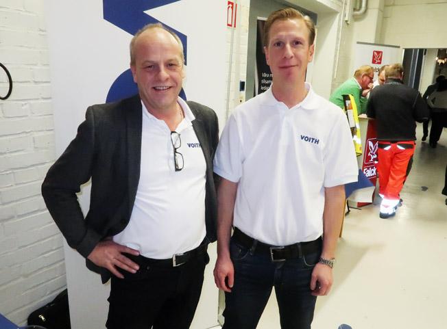 Voith Turbo representerades av Anders Danielsson och Henrik Witt. Foto: Ulo Maasing.