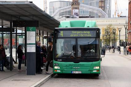 Stadsbussarna i de skånska städerna hade i fjol en resandeökning på 3,2 procent. Foto: Ulo Maasing.