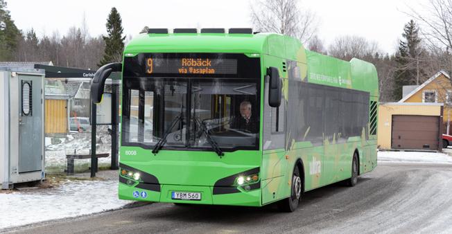 Stadsbussarna i Umeå fortsätter att slå resanderekord. Foto: Ulo Maasing.