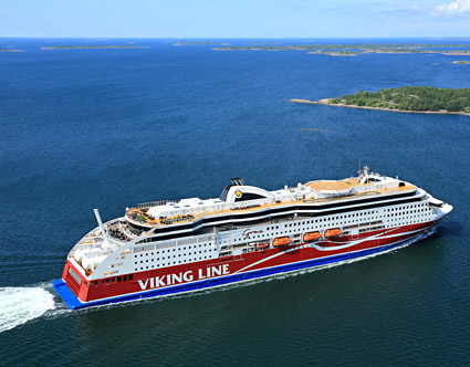 Viking Lines Viking Grace som seglar mellan Stockholm och Åbo. Foto: Viking LIne.