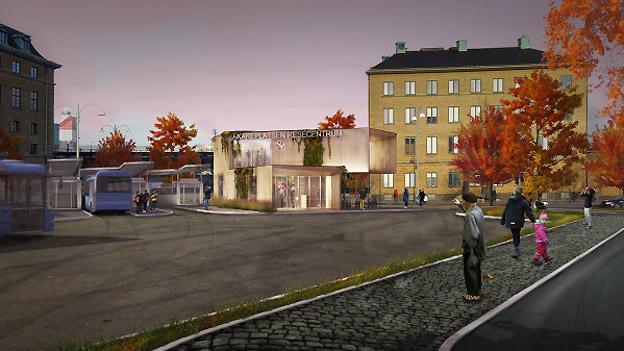 Göteborg får ett nytt resecentrum vid Åkareplatsen. Bild: Västtrafik.
