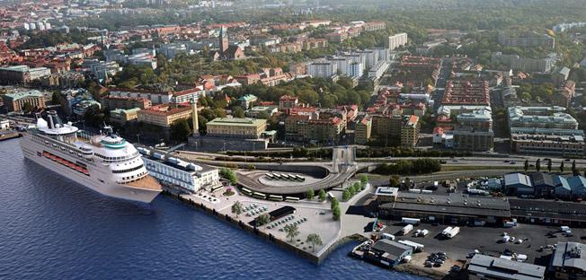 Det gamla Amerikaskjulet blir Göteborgs nya kryssningsterminal. Bild: Glteborgs Hamn.