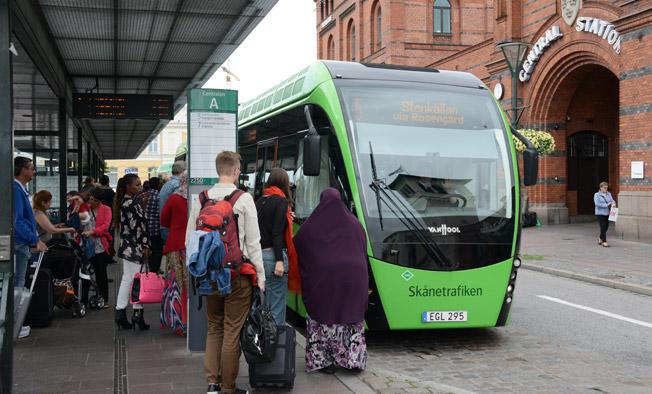 Hur bytespunkter är utformade är viktigt för om resenärerna ska uppfatta byten som negativa. Foto: Ulo Maasing.