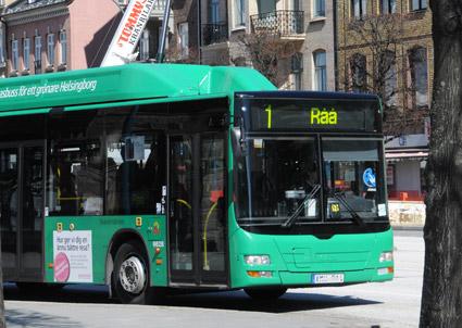 Inte sedan 2004 har resandet med stadsbussarna i Helsingborg utvecklats så svagt som i fjol. Foto: Ulo Maasing.