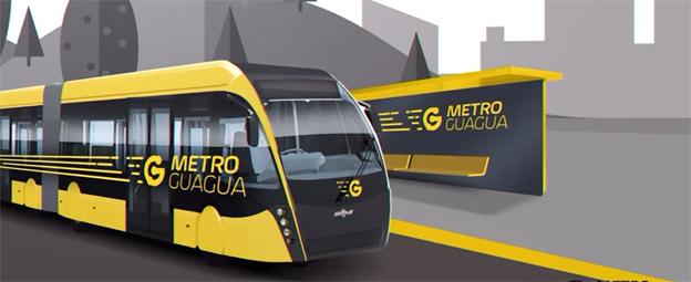 Med stöd från den europeiska investeringsbanken ska Las Palmas på Kanarieöarna nu etablera en BNRT-linje. Bild: MetroGuagua.