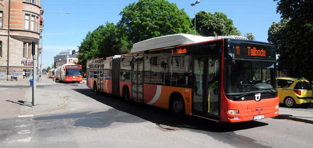 Resandet med Östgötatrafiken fortsatte att öka i fjol. Flest reser med tätortstrafiken i Linköping. Foto: Ulo Maasing.