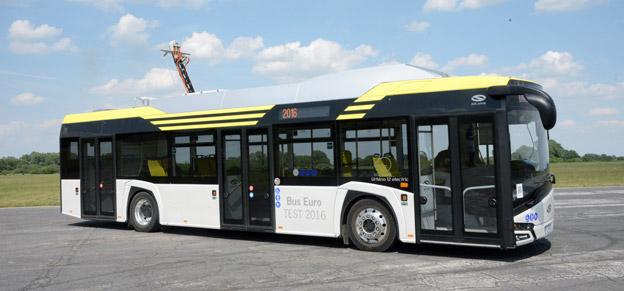 Solaris räknar med att elbussar de närmaste 2 – 3 åren kommer att bli en hörnpelare i företagets produktion. I fjol utsågs Solaris Urbino Electric till Årets Buss i Europa. Foto: Ulo Maasing.