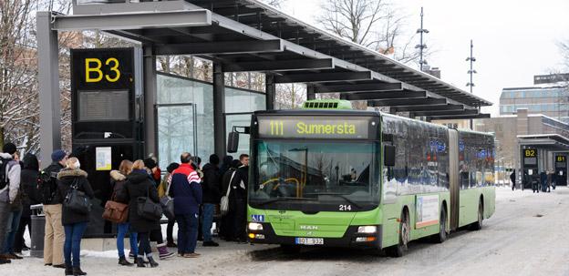Kollektivtrafiken i Region Uppsala tappade i fjol marknad till bilen. Foto: Ulo Maasing.