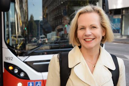 Positiv: Anna Grönlund, vice vd för Sveriges Bussföretag. Foto: Ulo Maasing.