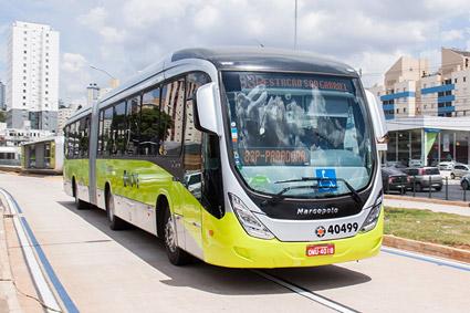 BRT-buss i Belo Horizonte. Foto: Cid Costa Neto/Wikimedia Commons.