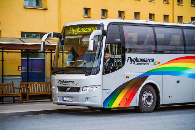 Flygbussarna är den transportör som Stockholmarna är mest nöjda med enligt en undersökning. Foto: Eminetrix.