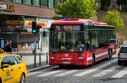 Kollektivtrafiken i Sverige blir snabbt allt mer fossilfri. Foto: Scania.