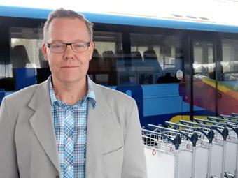 Fredrik Forsell, kollektivtrafikchef i Umeå.Foto: Ulo Maasing.
