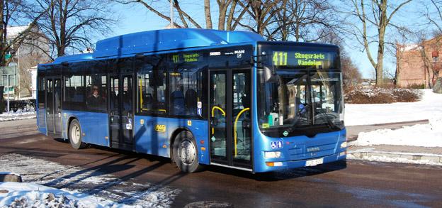 Stadsbuss i Kalmar. Men vem ska köra en helg i augusti? Foto: Wikimedia Commons/marcusroos.
