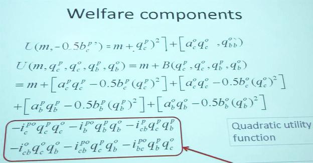 Den komplicerde formel som används för att räkna ut BCDWWC i ett företag presenterades i Bryssel på fredagen. Foto: Ulo Maasing.