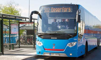Linje 502 är en av de populäraste busslinjerna i västra Örebro län. Foto: Fanny Oskarsson.