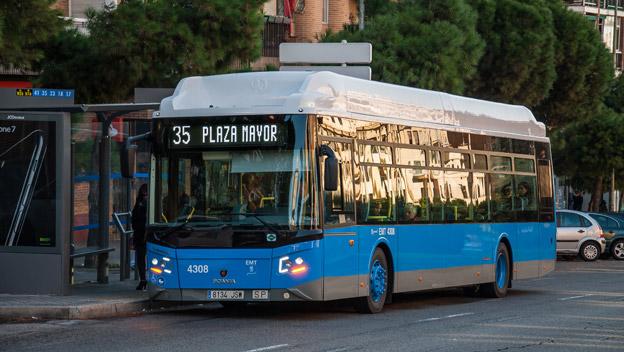 Scania har fått en order på ytterligare 160 gasbussar till Madrid. Foto: Scania.