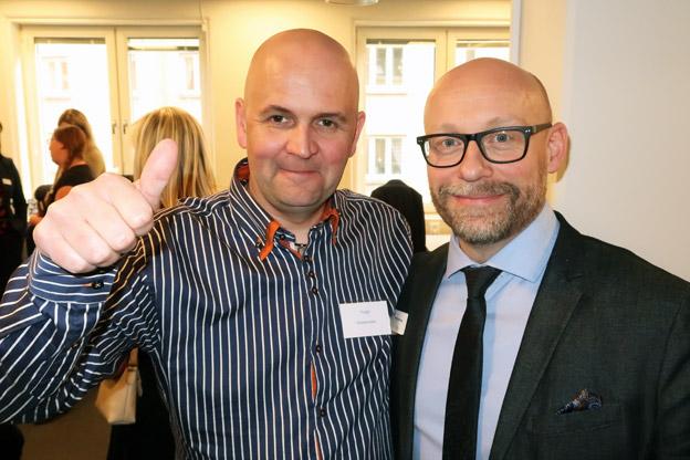 I vimlet i RK Travel Groups nya lokaler på Odinsgatan i Göteborg: Hugo Storsand, Orklareiser AS i Norge och RK:s Anders Nord.