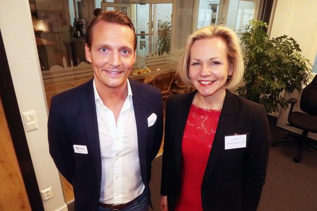 RK:s Andreas Hjelm och Sveriges Bussföretags Anna Grönlund.