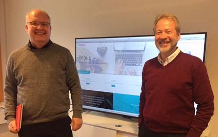 Piffar upp Rebus gör Göran Gustsfsson och Peter Nyberg på Åbergs Data.