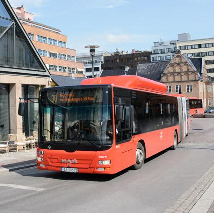 Bussen dominerar kollektivtrafiken även i Oslo. Foto: Ulo Maasing.