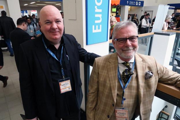 Ulf Sleman och Mikael von Leitgeb från Ölvemarks Holiday/Scandorama på ITB-mässan i Berlin. Foto: Ulo Maasing.