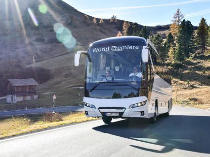 Den första versionen av Tourlinern kom 2006. Foto: MAN.