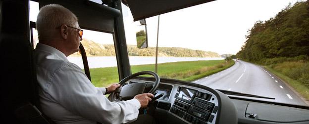 Den svenska bussförarkåren blir allt äldre.Foto: Volvo Bussar.