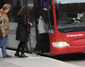 Stadsbussresandet i Karlskrona har ökat kraftigt. Foto: Ulo Maasing.