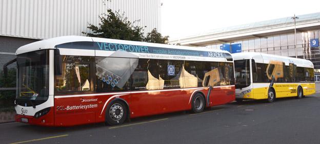 Turkiska Bozankaya presenterade sina elbussar för första gången i samband med IAA-mässan i Hannover 2014. Foto: Ulo Maasing.
