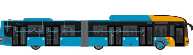 Cityline 5C i Köpenhamn hade premiär i helgen. Därmed har Danmark fått sin första BRT-linje. Bild: Movia.