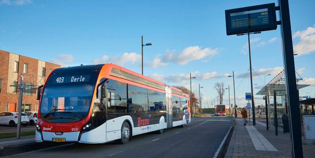De 43 batteridrivna ledbussarna i holländska Eindhoven har nu avvrkat sin första miljon kilometer. Foto: VDL.