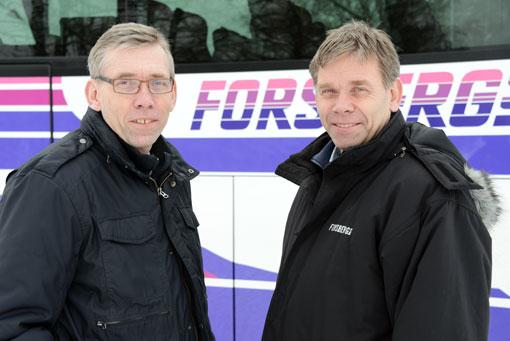 Bröderna Ken och Lars Forsberg har sålt Forsbergs Buss till Västanhede Trafik. Foto:Ulo Maasing.