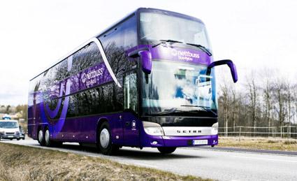 Nettbuss Travel fördubblar mellan Göteborg och Oslo. Foto: Nettbuss.