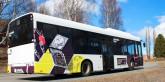 En specialdesignad omtankebuss rullar nu på Skellefteås gator. Foto: Skellefteå Buss.