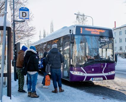 Skellefteborna får en utvecklad app för sina bussresor. Foto: Skellefteå Buss.