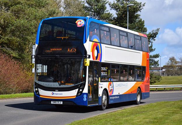 Ordern från Stagecoach omfattar bland annat 183 ADL Enviro 400 dubbeldäckare. Foto: ADL.