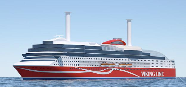 Viking Line bygger nytt för rutten Stockholm - Åland – Åbo. Bild: Viking Line.