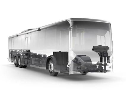 Lågentréchassiet Volvo B8RLE lanseras nu globalt,liksom Volvos chassi Volvo B8R. Bild: Volvo Bussar.