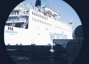 Resandet och godstransporterna mellan Umeå och Vasa ökar kraftigt. Foto: Wasaline.