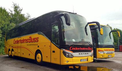 Cederholms Buss i Vinslöv köps av Röke Buss. Foto: Cederholms Buss.