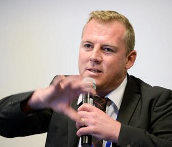 Matt Horton, affäreschef hos den amerikanska elbusstillverkaren Proterra. Foto: Ulo Maasing.