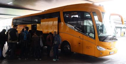 Konkurrensen på expressbussmarknaden i Tyskland är minimal. Marknadstrea är RegioJet med sina orangegula bussar och 1,3 procents marknadsandel. Foto: Ulo Maasing.