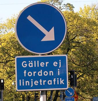 De flesta busskörfälten i Göteborg är bara till den för den allmänna kollektivtrafiken.