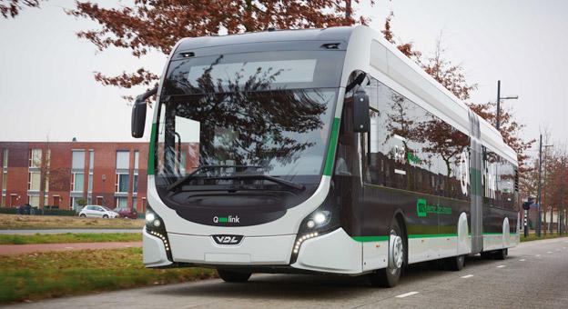 VDL har fått en beställning på tio batteridrivna ledbussar till den holländska staden Groningen. VDL är nu klar marknadsledare i Europa när det gäller eldrivna ledbussar. Foto: VDL.