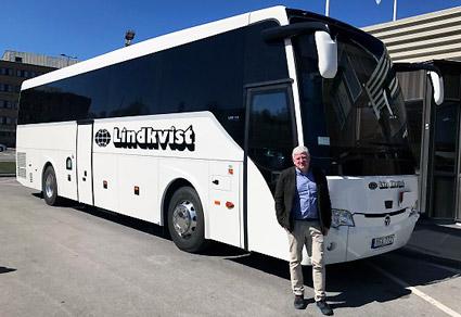 Johan Ekman förvärvar anrika familjeföretaget Lindkvist Buss i Tyresö. Foto: Ekmanbuss Flexibussitet.