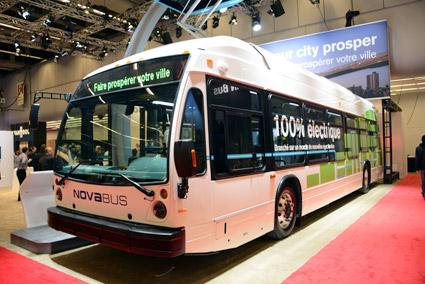 Volvos nordamerikanska dotterbolag Nova Bus premiärvisar sin nya elbuss på mässan. Foto: Ulo Maasing.