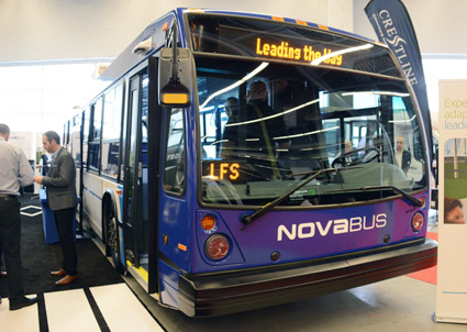 Nova Bus ställer också ut dieselbussen LFS. Foto: Ulo Maasing.
